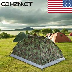 TOMSHOO Waterproof 2 Person Camping Tent Traveling Outdoor H