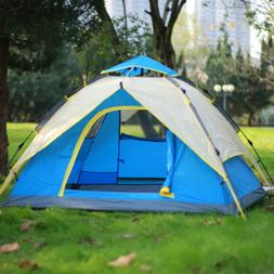 Waterproof 3-4 People Automatic Instant Pop Up Tent Green Ca