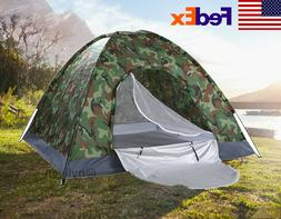 Waterproof 3-4 Person Family Dome Camping Dome Tent Camo Hik