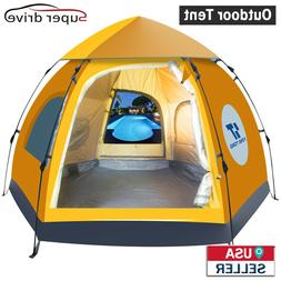 Waterproof 5-6 People Automatic Instant Pop Up Brown Tent Ca