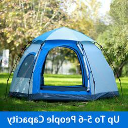 Waterproof 5-6 People Automatic Instant Pop Up Tent Family C