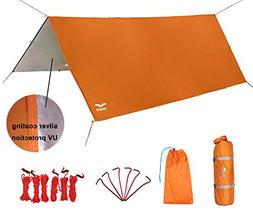 MIER Waterproof Hammock Rain Fly Lightweight Tent Tarp Campi