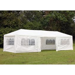 Palm Springs 10 x 30 Foot White Party Tent Gazebo Canopy wit